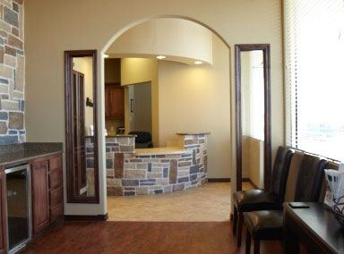 entrance to front desk